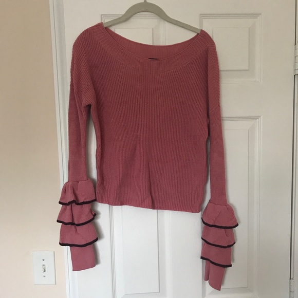 Express Sweaters - Express tiered sleeve sweater